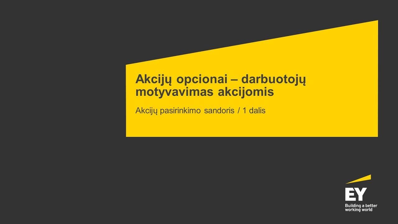 akcinių bendrovių akcijų opcionų apmokestinimas)