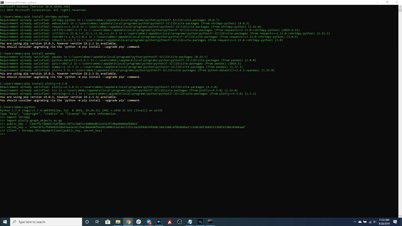 trading bot python binance)