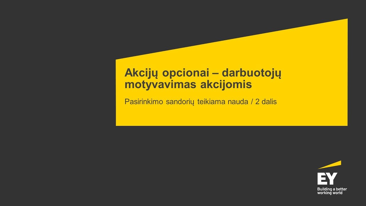 myl akcijų pasirinkimo sandoriai)