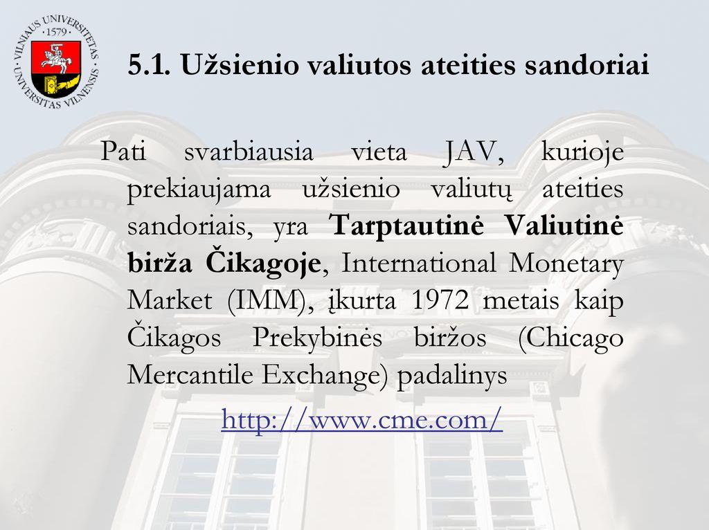 biržos prekių ateities sandoriais)