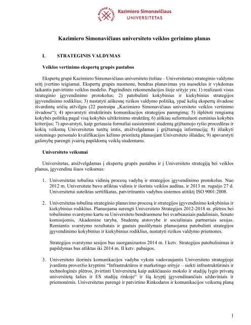 universiteto studentų komunikacijos strategija)