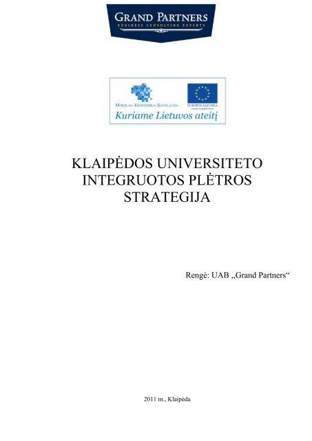 universiteto tarptautinės rinkodaros strategija)