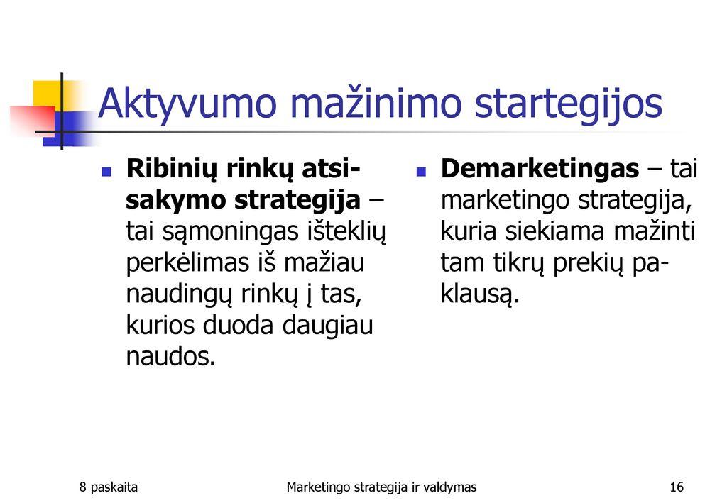 ateities prekybos strategijos ppt)