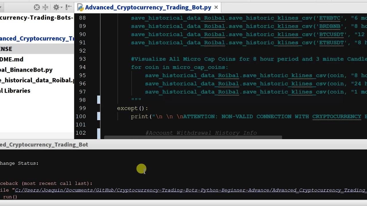 crypto trading bot github binance)