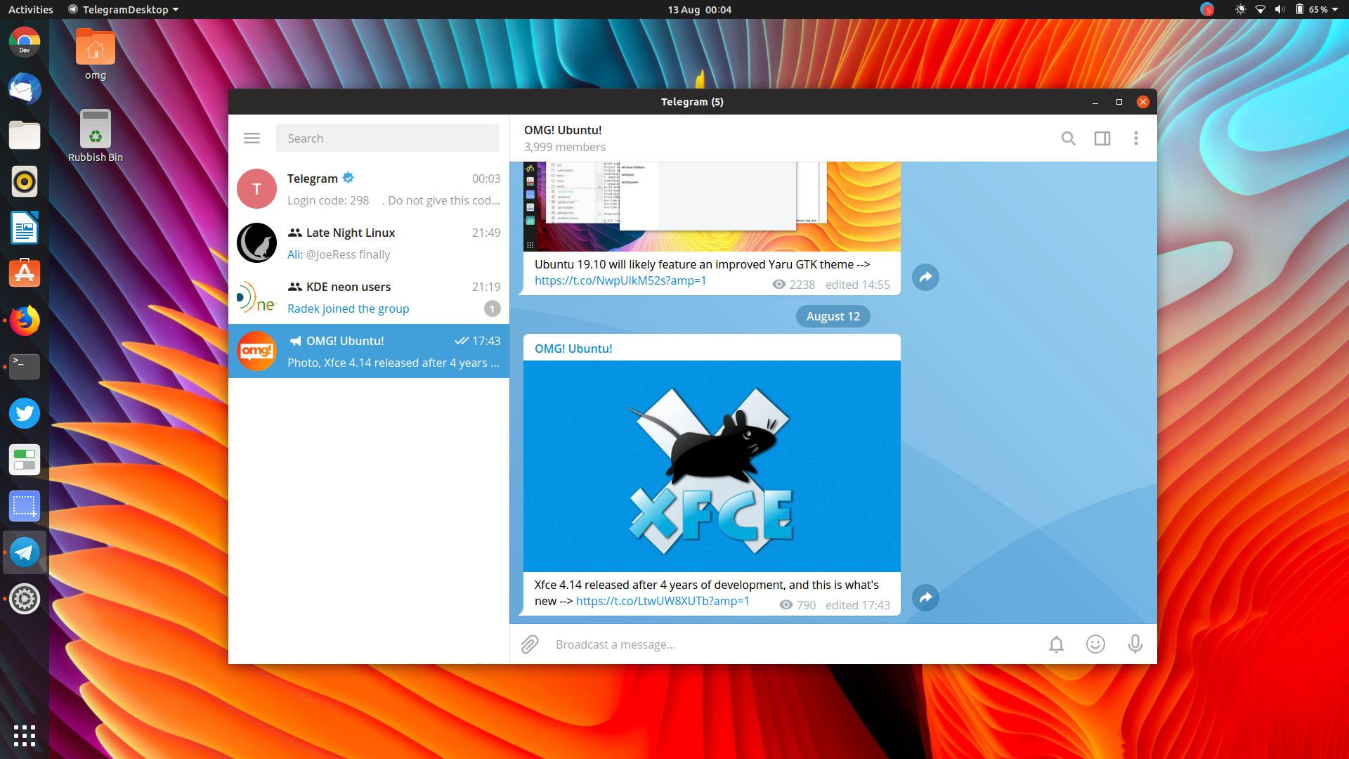 telegram linux)