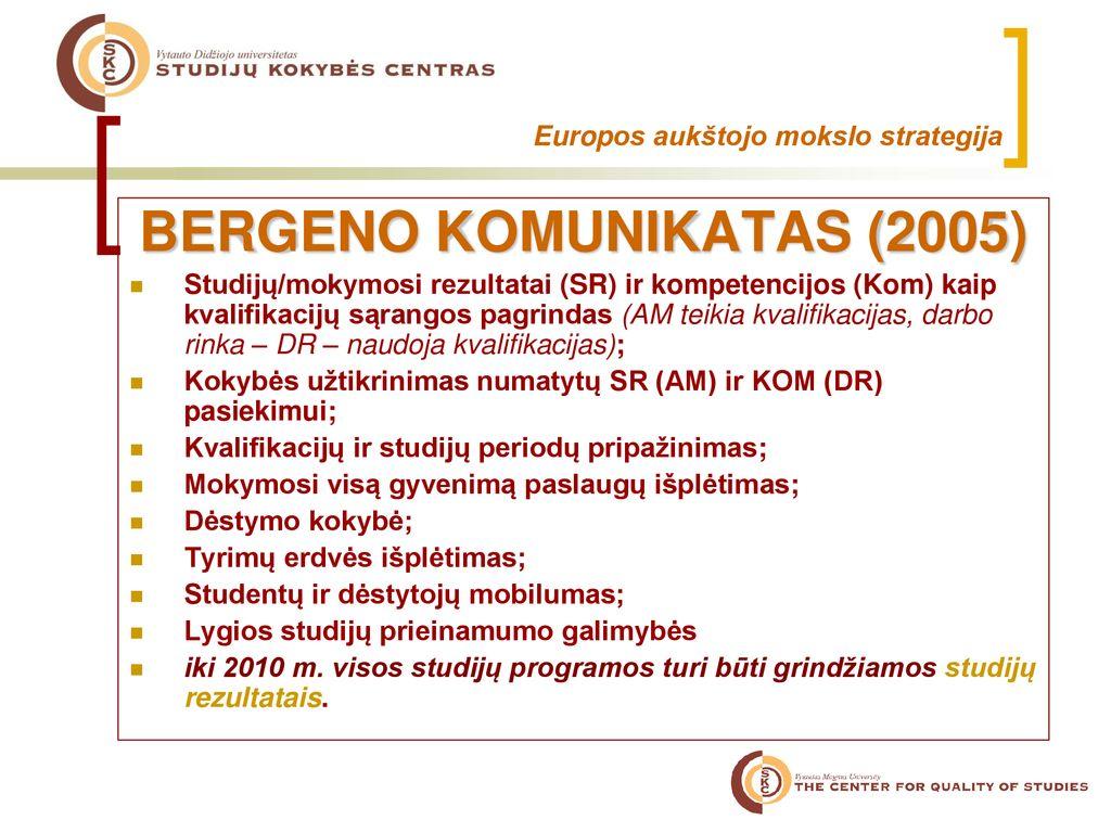 glazgo universiteto mokymosi ir mokymo strategija)