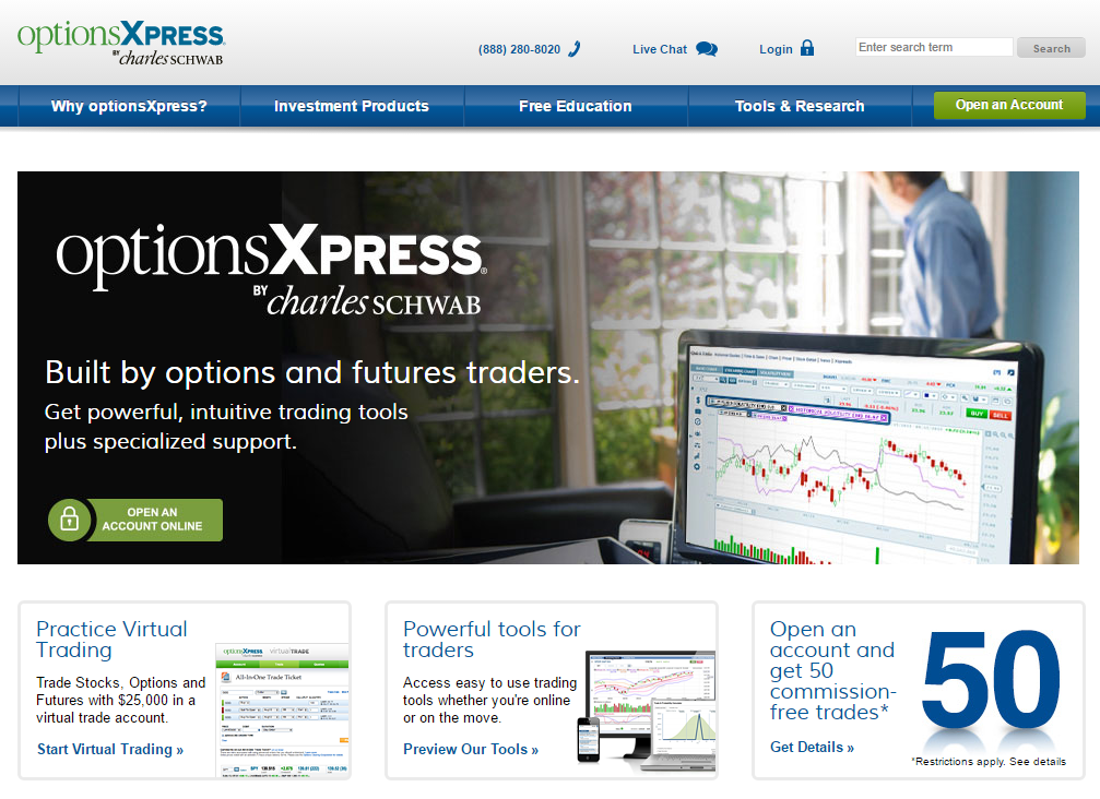 tradestation vs optionsxpress)