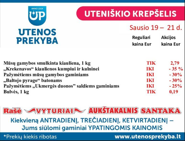 Utenos trikotažas | Prekyba — Nasdaq Baltijos birža