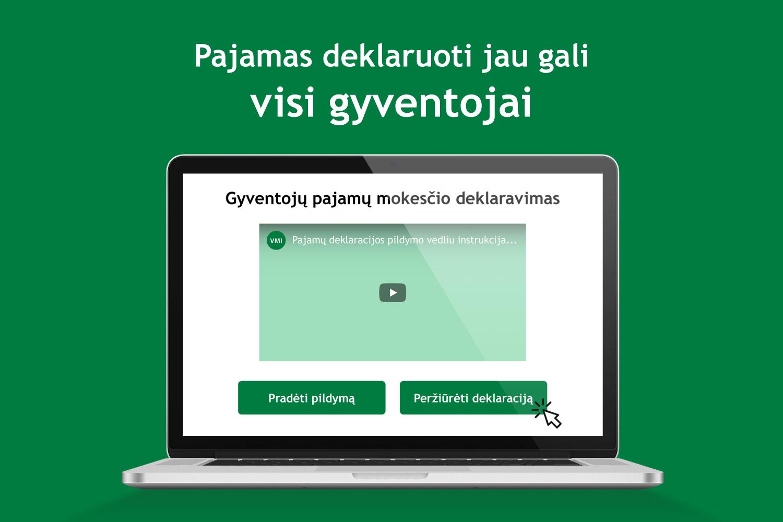 kaip uzsideklaruoti pajamas internetu
