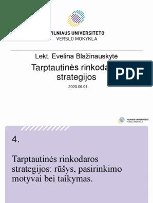Rinkodaros strategija, planavimas ir valdymas