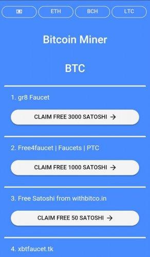 free bitcoin miner btc faucet